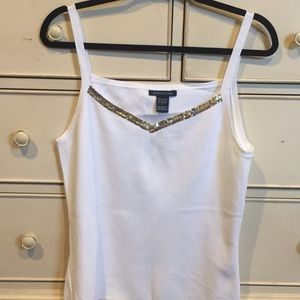 White knit camisole.